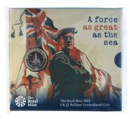 2015 £2 Royal Navy Brilliant Uncirculated pack for sale